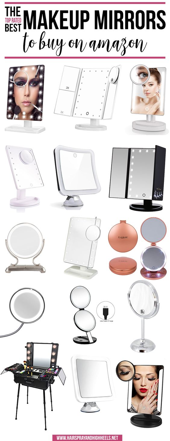 WHOA! Stop everything you're doing right NOW! You have to check this post out. The ABSOLUTE Top Rated Makeup Mirrors to buy on Amazon!