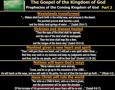 They follow the Lamb wherever he goes: The Gospel of the Kingdom - Prophecies of…
