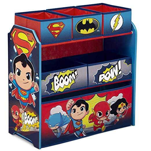 Superman Collapsible 3D Storage Bin by DC Comics-Cube Organizer Great For Kids