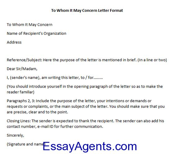 To whom it may concern letter sample Misc Pinterest Letter form - to whom it may concern letter