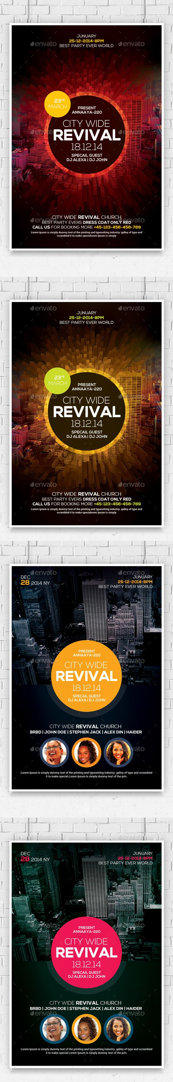 flyer template church and bible studies revival church flyers template bundle psd design graphicriver