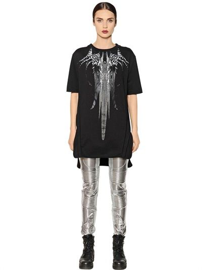 MARCELO BURLON COUNTY OF MILAN - MALAL PRINTED COTTON JERSEY T-SHIRT - LUISAVIAROMA - LUXURY SHOPPING WORLDWIDE SHIPPING - FLORENCE