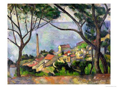 Paul Cézanne's The Sea at L'Estaque: Artist S Rendering, Cezanne Paul, Cézanne 1839 1906, Cezanne 1839 1906, Cezanne Landscapes, Art Paul Cezanne