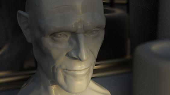Charlotte Dobson, 3D modelling, Willem Dafoe, Alabaster Bust
