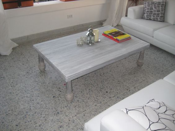 Being in Colombia it was hard to find tables that I liked, so I decided to ask a local builder how much it would cost to get some made- he said a kitchen table was over $800.  So I decided if I can make some myself and how much it would cost.  I made something quite decent for under $100.  I must say Pinterest taught me some good technique to make this happen.  So here is a picture :)