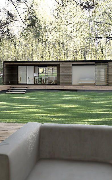 Una casa de arquitectura simple, minimalista, es mas que suficiente para una vida tranquila, con poco trabajo de asistencia.