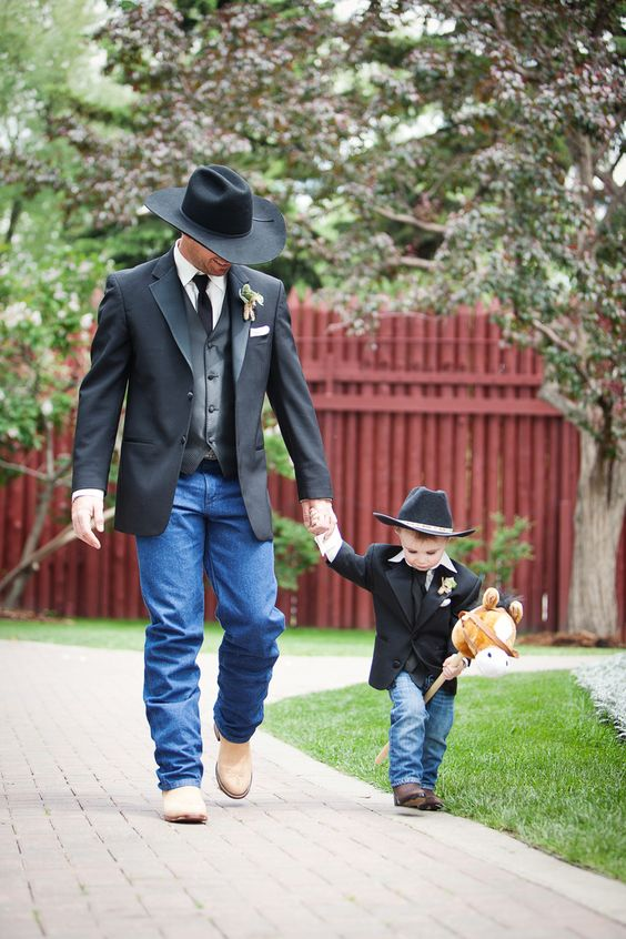 @Cassie Miller ..... Chance and Cash... maybe minus the hats, but thought this was adorable