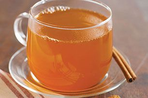 Sidra caliente con un toque a naranja