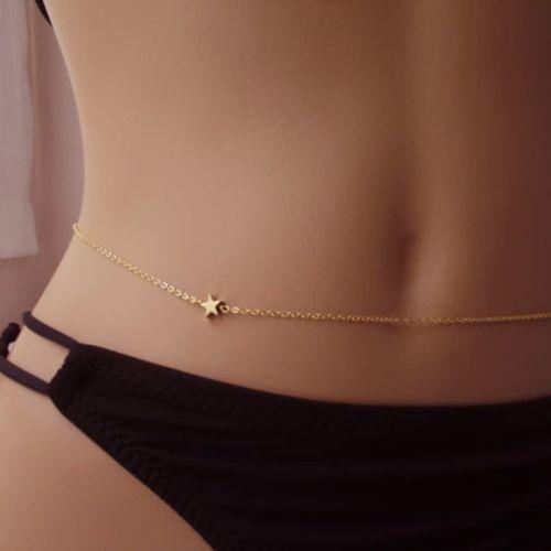 Women Belly Chain Waist Bikini Body Jewelry Rhinestone Back Chain Beach Harness In 2020 Body Jewelry Bikini Waist Jewelry Belly Chain