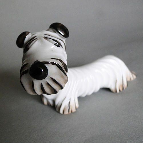 Walter Bosse Metzler Amp Ortloff Grotesk Schnauzer Hund Miniatur Figur Schnauzer Hunde Schnauzer Deutsche Kunstler