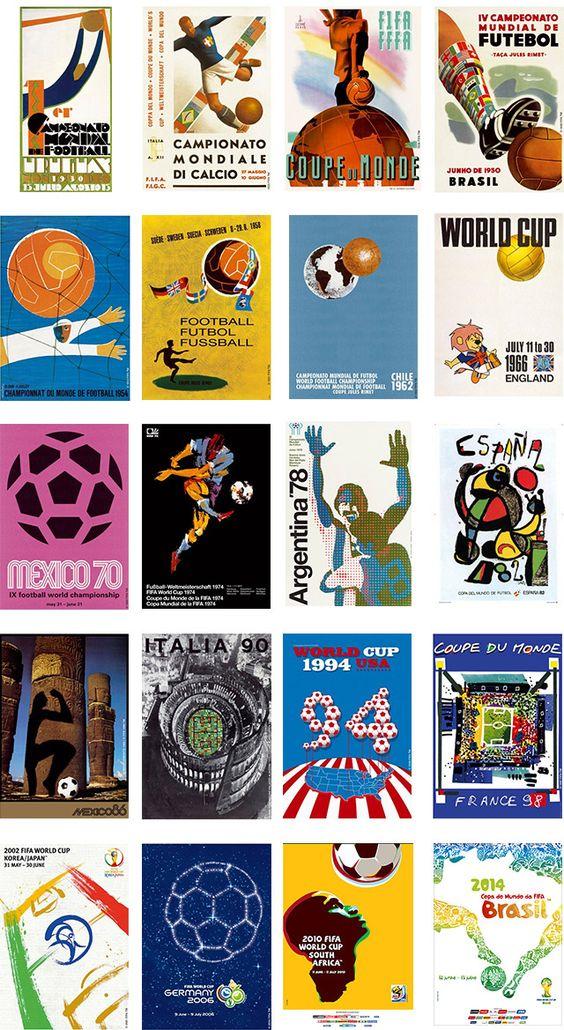 Veja os cartazes oficiais de todas as Copas do Mundo | Site do Governo Brasileiro para Copa do Mundo da FIFA 2014