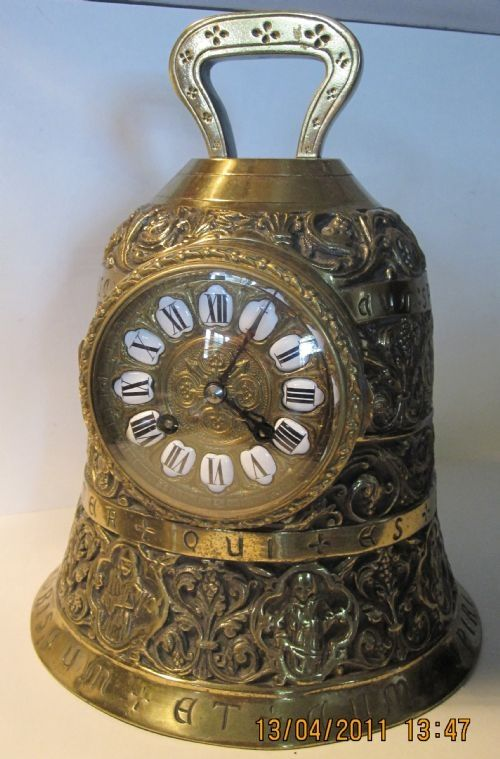 rare french bell clock 19th century