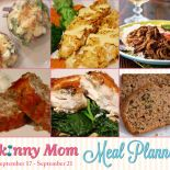 Skinny Meal Planner: Sept.17 – Sept. 21