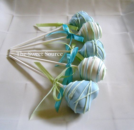 Cake Pops: Baby Shower Cake Pops Made to Order with High Quality Ingredients. via Etsy.