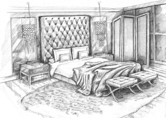 Sketch A Room pencil sketch art master bedroom concept design visuallorraine