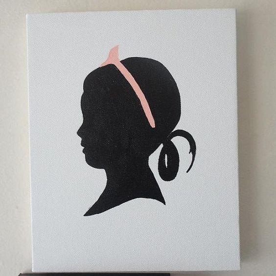 8 x 10 inch custom silhouette