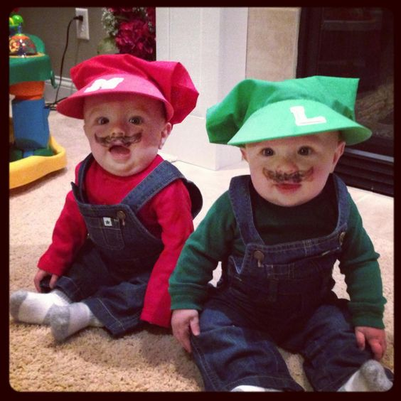 Twins halloween costumes Twin halloween and Mario and
