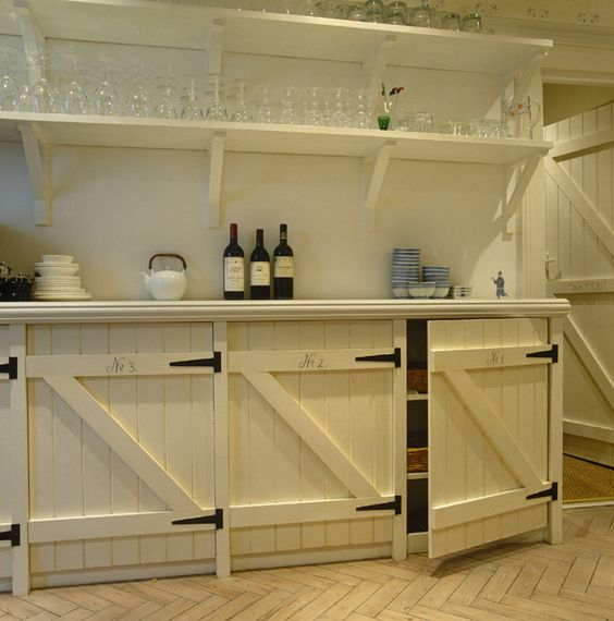 Perfect DIY piece beautifully refurbished an restored gate/barn/stable wood. Would make a beautiful addition to a pantry or wine cellar.