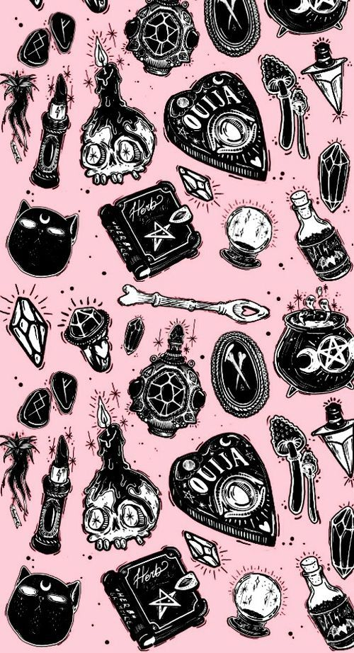 Pink Wallpaper And Witch Image Image Pink Wallpaper Witch Witch Wallpaper Witchy Wallpaper Goth Wallpaper