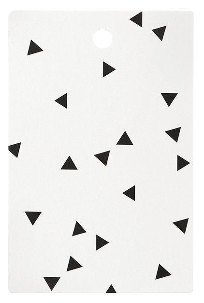 Mini Triangle Cutting Board | White and Black Cutting Board | Scandinavian Style