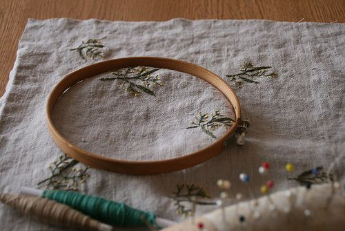 wattle embroidery by tiny happy, via Flickr
