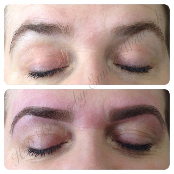 HD Brows by MASTER Stylist Emma Willcock. Before & after.  Next to no make-up used, they just didn't need it. Nice & natural!