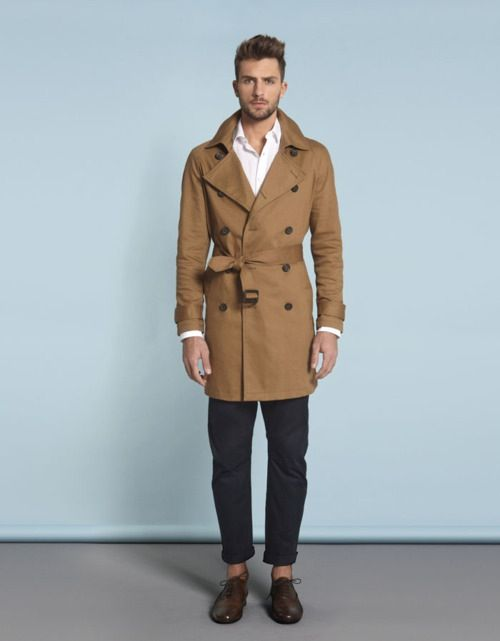 men's trench coat / men's fashion / style | Tan Trench coat