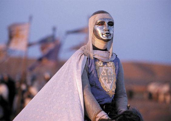 "amazing (but historical inaccurate) interpretation of leper king Baldwin IV of Jerusalem in the movie ""Kingdom of Heaven"""