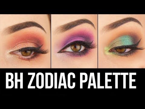 3 Eye Makeup Looks 1 Palette Bh Cosmetics Zodiac Eyeshadow