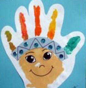 Como Pintar la cara un Indio con Pintura de Dedos | Manualidades Infantiles