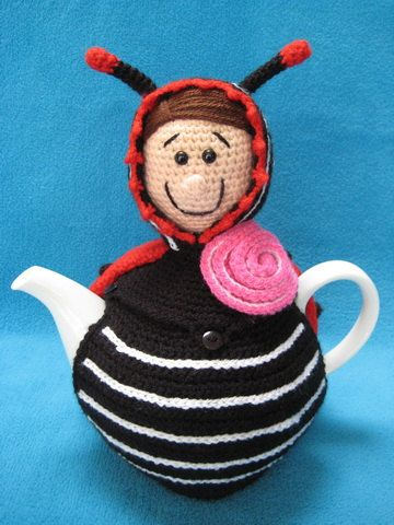 Teacosy Ladybug Animal Tea Cosy Cover Amigurumi Crochet Pattern PDF