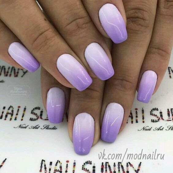 50 Eye Catching Summer Nail Art Designs Purple Ombre Nails Ombre Nail Designs Nail Art Ombre