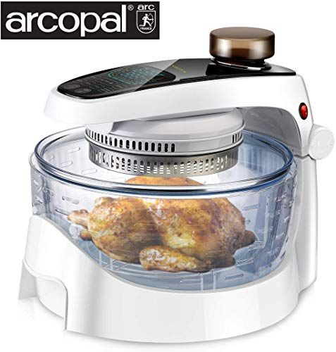 New Sanhoya Convection Oven French Arcopal Glass Bowl Spray Function Air Fryer 17l Oilless Cooker Lcd Digital Touch Screen Stainless Steel Extender Ring In 2020 Convection Oven Glass Bowl Pressure