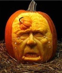 Hand-carved pumpkin