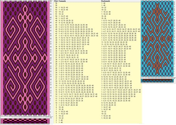 Enhebrados opuestos, movimientos coincidentes // 40 tarjetas, 3 colores, completa dibujo en 56 movimientos // sed_973&sed_973a diseñado en GTT ༺❁