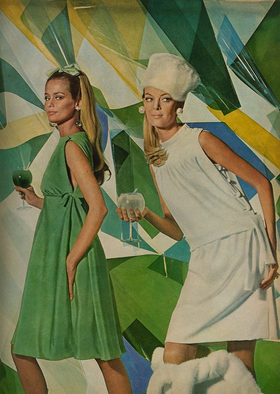 Lauren Hutton in an ad from Cocteau, 1966.: