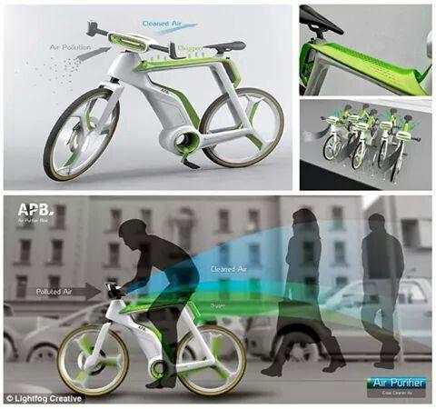 """Bicicleta purificadora de aire"""