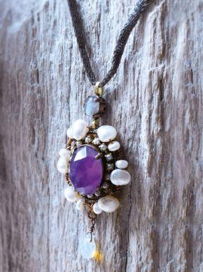 Amethyst necklace - Happinez