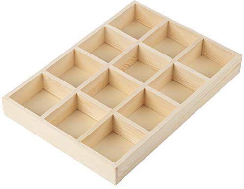 Amazon Com Wooden Drawer Organizer Desk Organizer Divided Storage Box Display Tray For Small It Wooden Drawer Organizer Wooden Drawers Drawer Organisers