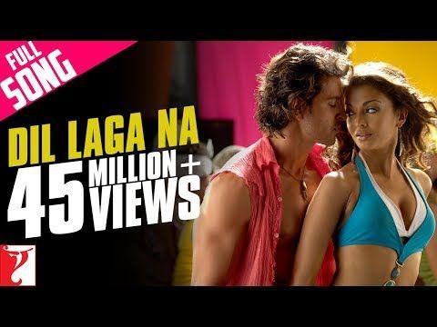 Dil Laga Na Full Song Dhoom 2 Hrithik Roshan Aishwarya Rai Youtube Hrithik Roshan Bollywood Music Videos Songs