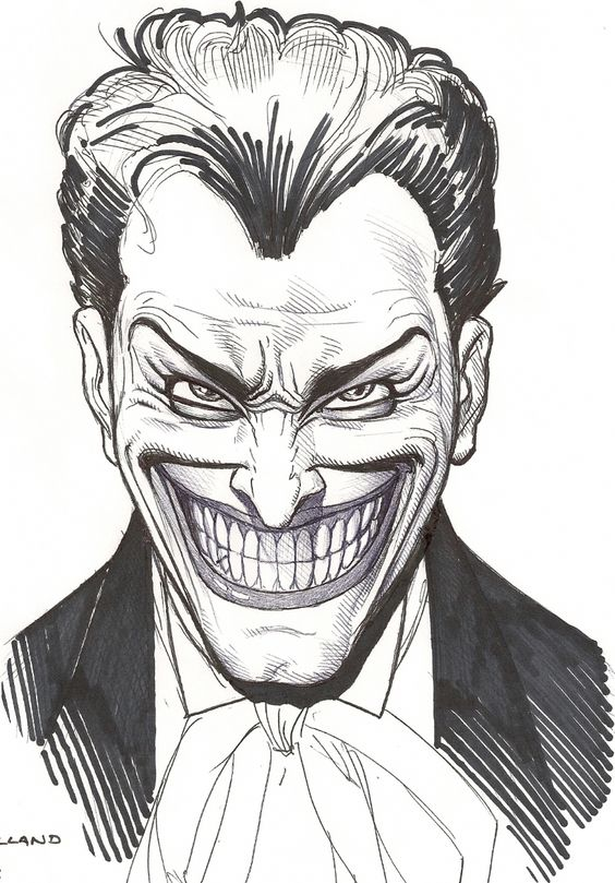 Joker Scribble Drawing : Image detail for joker face in rich cirillo s brian