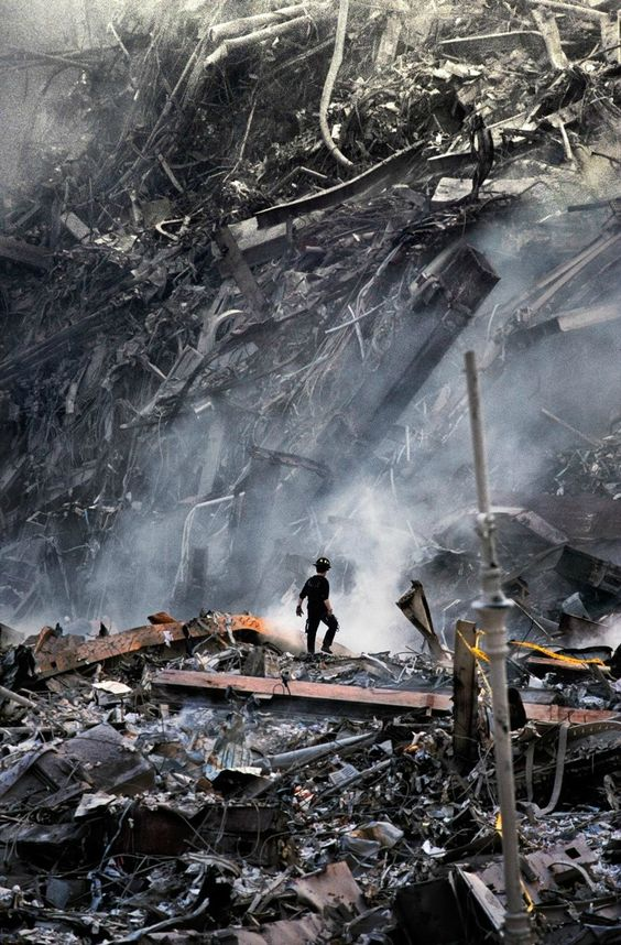 Steve McCurry's photo of a 9/11 rescue worker.