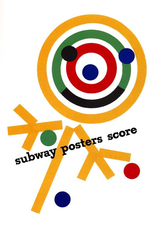 Paul Rand  - smiley subway poster.
