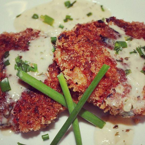 Photo by theplatedpalette  Crawfish Cakes w/white wine sauce