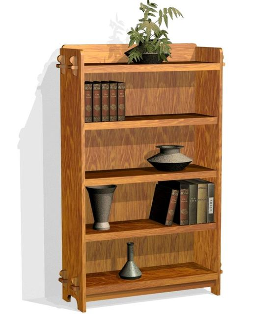 Mission Style Bookshelf Plans - Furniture Plans