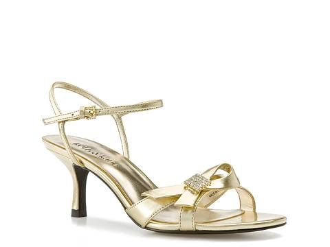 "Kelly & Katie ""Tammy"" Metallic Sandal Evening & Wedding Wedding Shop Women's Shoes - DSW - Named after me :)  And I actually need Gold Shoes for a wedding!  Sweet!"