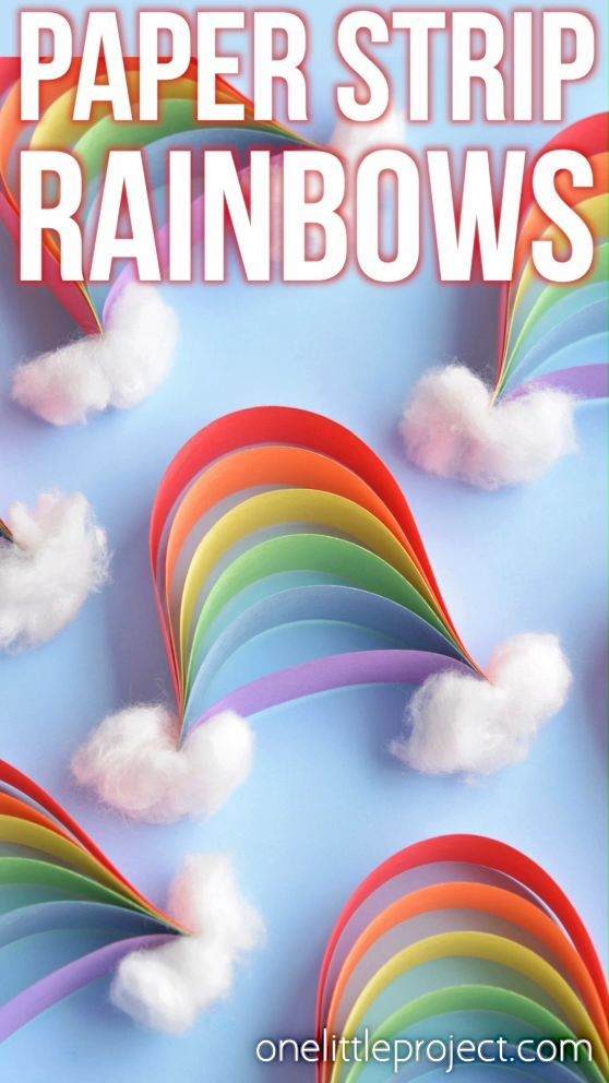 How to Make Paper Strip Rainbows | Construction paper crafts ...