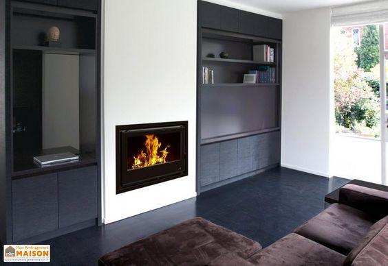 insert bouilleur chaudière à bois foyer en acier