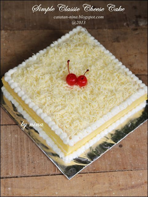 Resep Kue Tart Kukus Mudah : resep, kukus, mudah, SIMPLE, CLASSIC, CHEESE, Catatan-Nina, Makanan, Manis,, Ringan, Membuat, Coklat