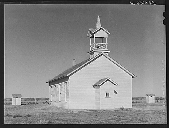 Country church on Highway 83. Norton County, Kansas 1940
